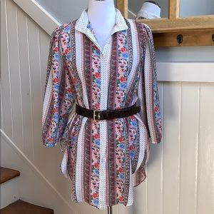 Vintage Georgette Tunic Style Dress/Top